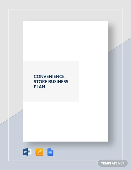 convenience store business plan example