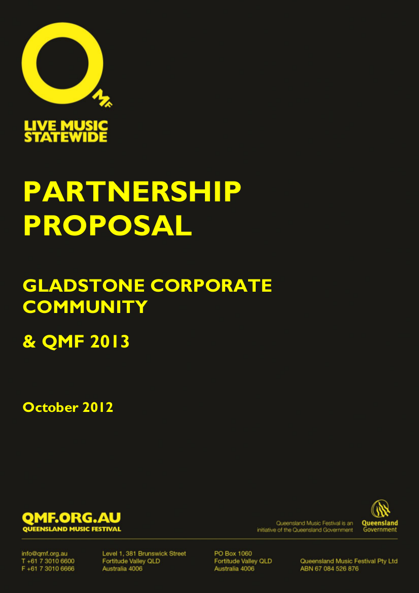 corporate community partnership proposal example