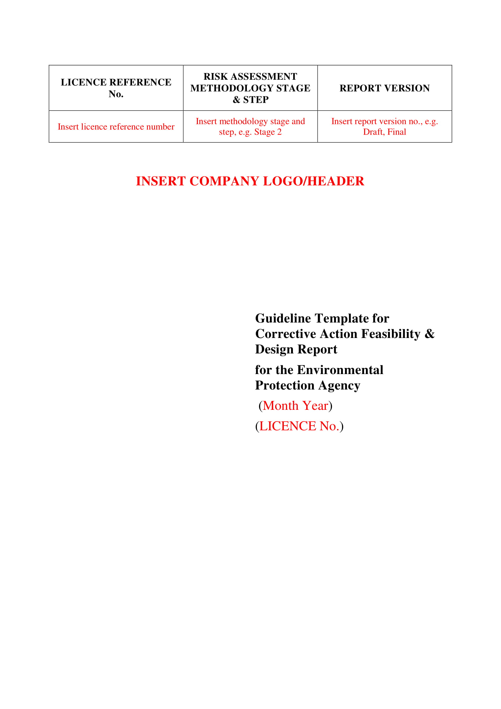 corrective action feasibility and design report example 01
