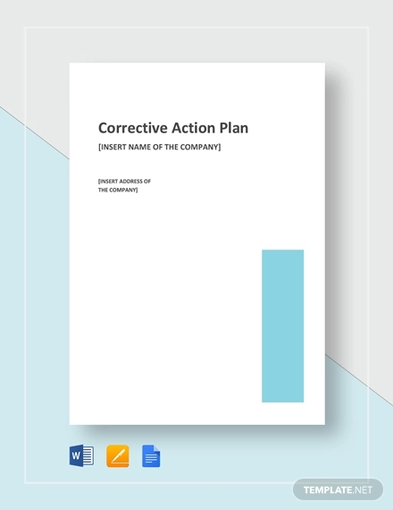 corrective action plan example