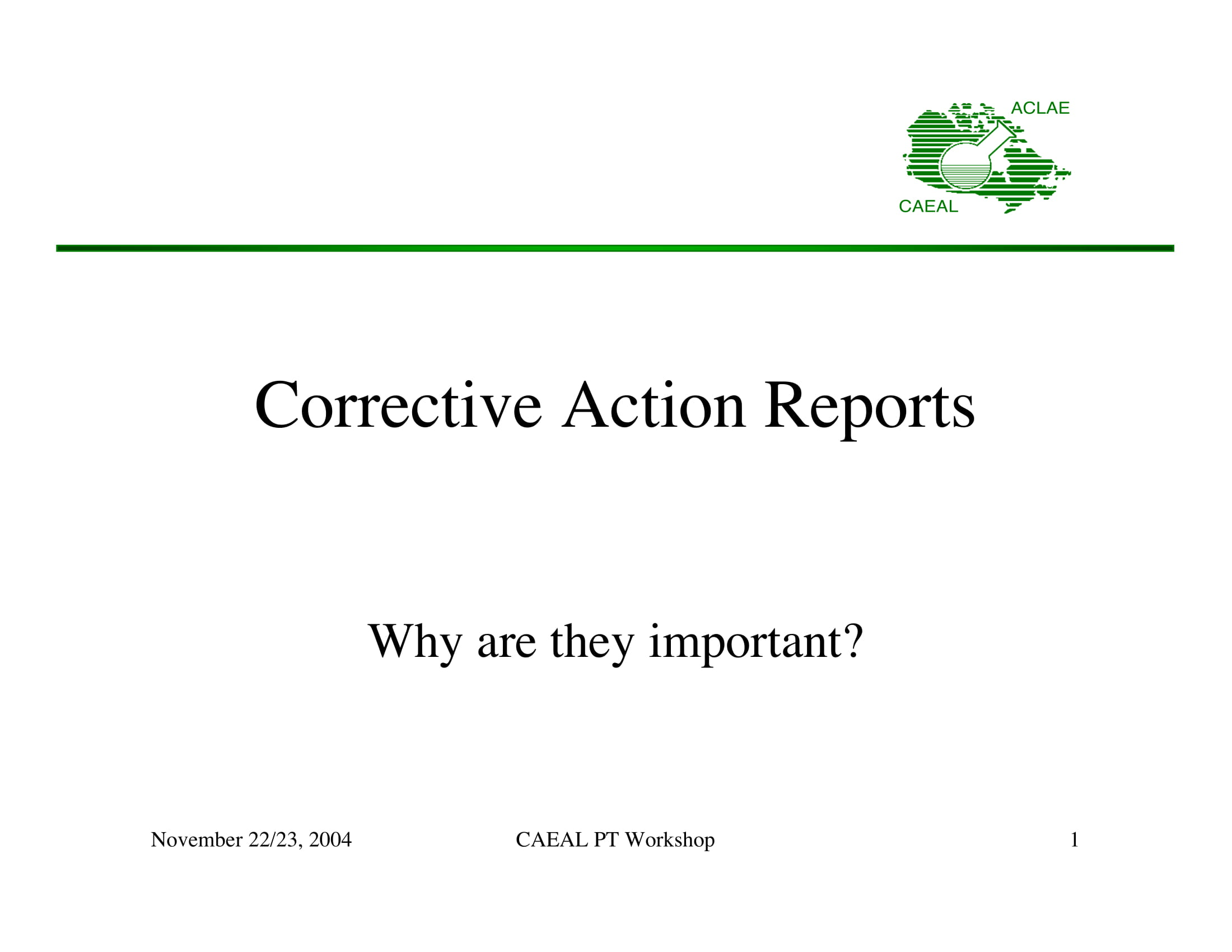 corrective action report example 01