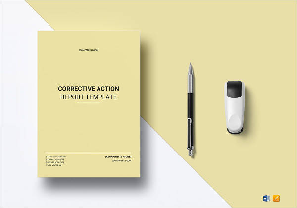 corrective action report example