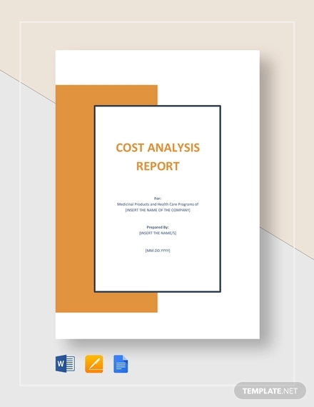cost analysis report example