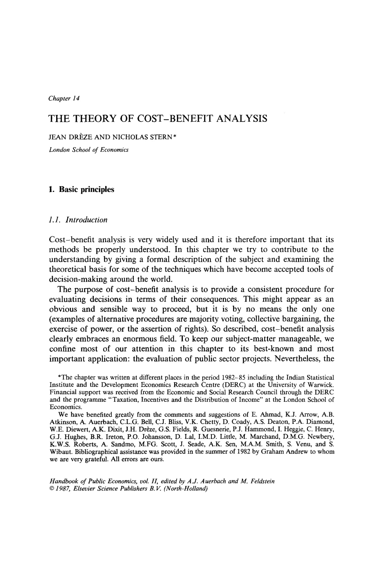 cost analysis theory and example