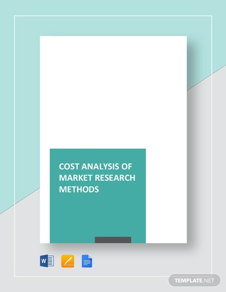 cost analysis of market research methods template1