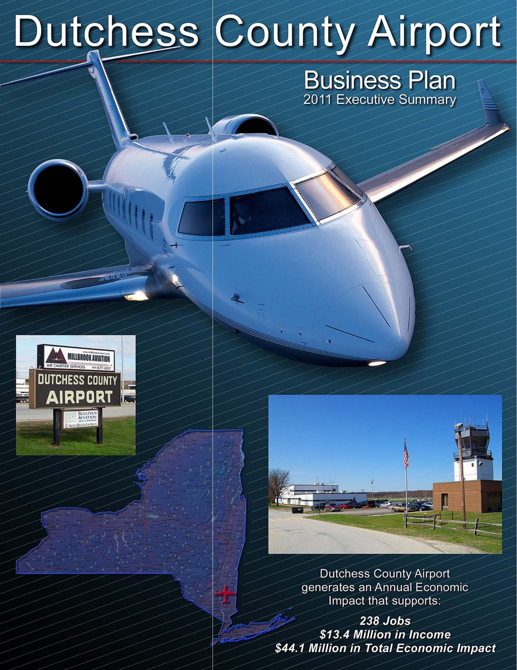 county airport business plane executive summary example
