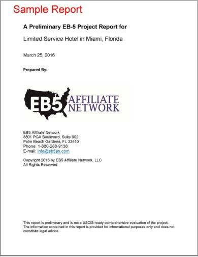 cover page for new business project report example1