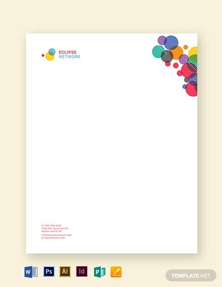 creative business letterhead template