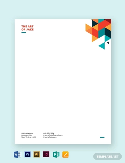 creative small business letterhead template