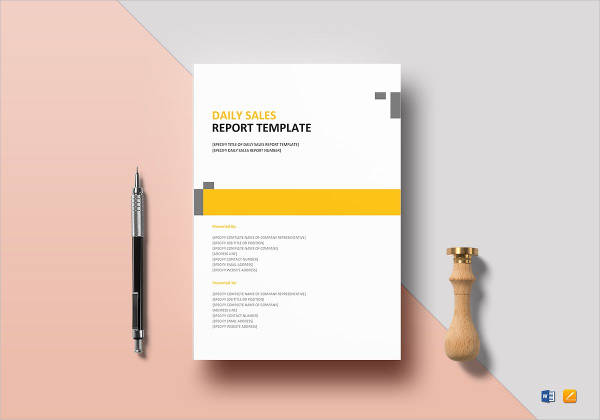 daily sales report design example