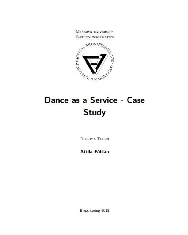 dance studio service business plan example