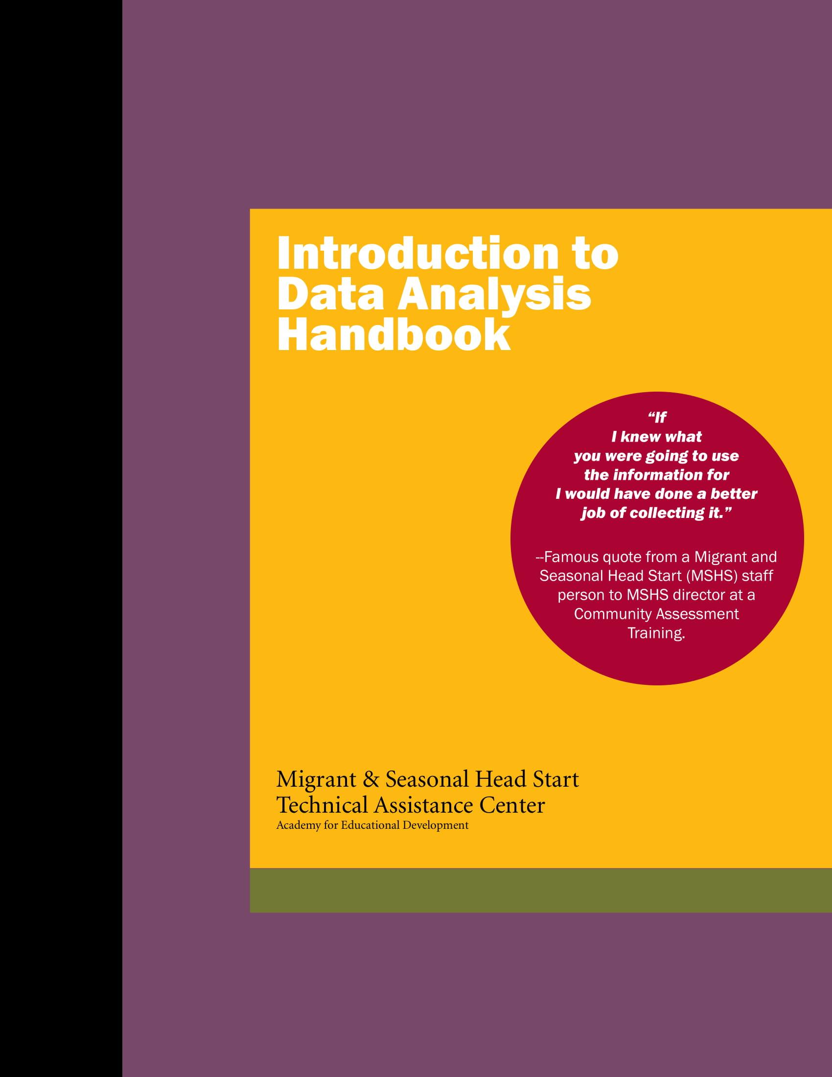 data analysis report handbook and guide example 001