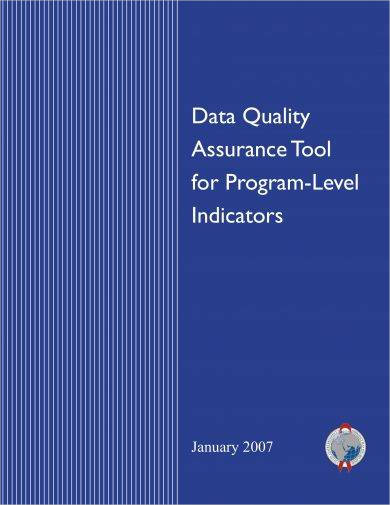 data quality assurance planning management program level indicators