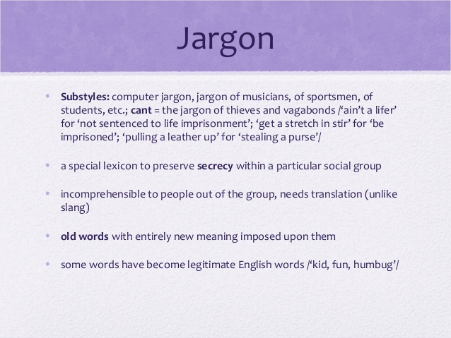 definition of jargon