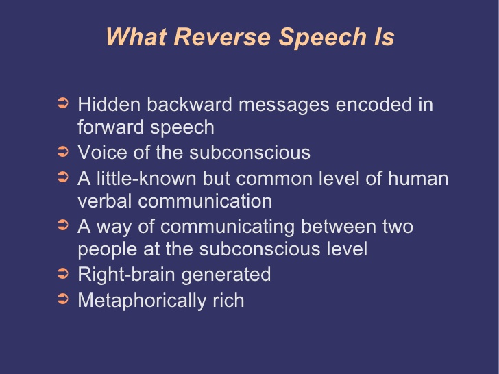 definition of reverse speech