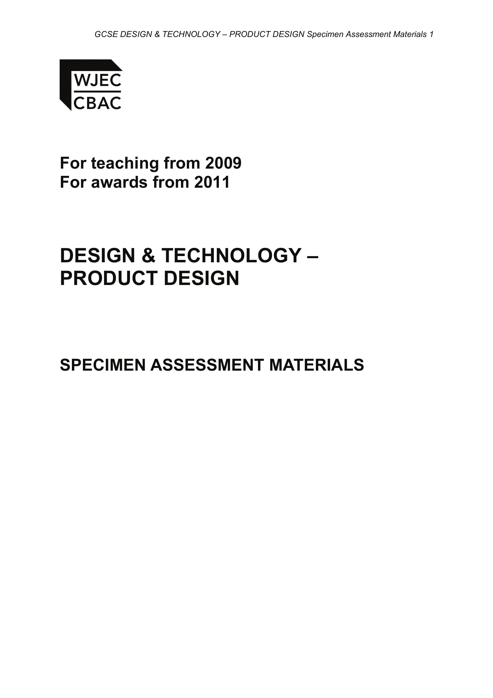 design and technology materials for product design assessment or analysis example 01