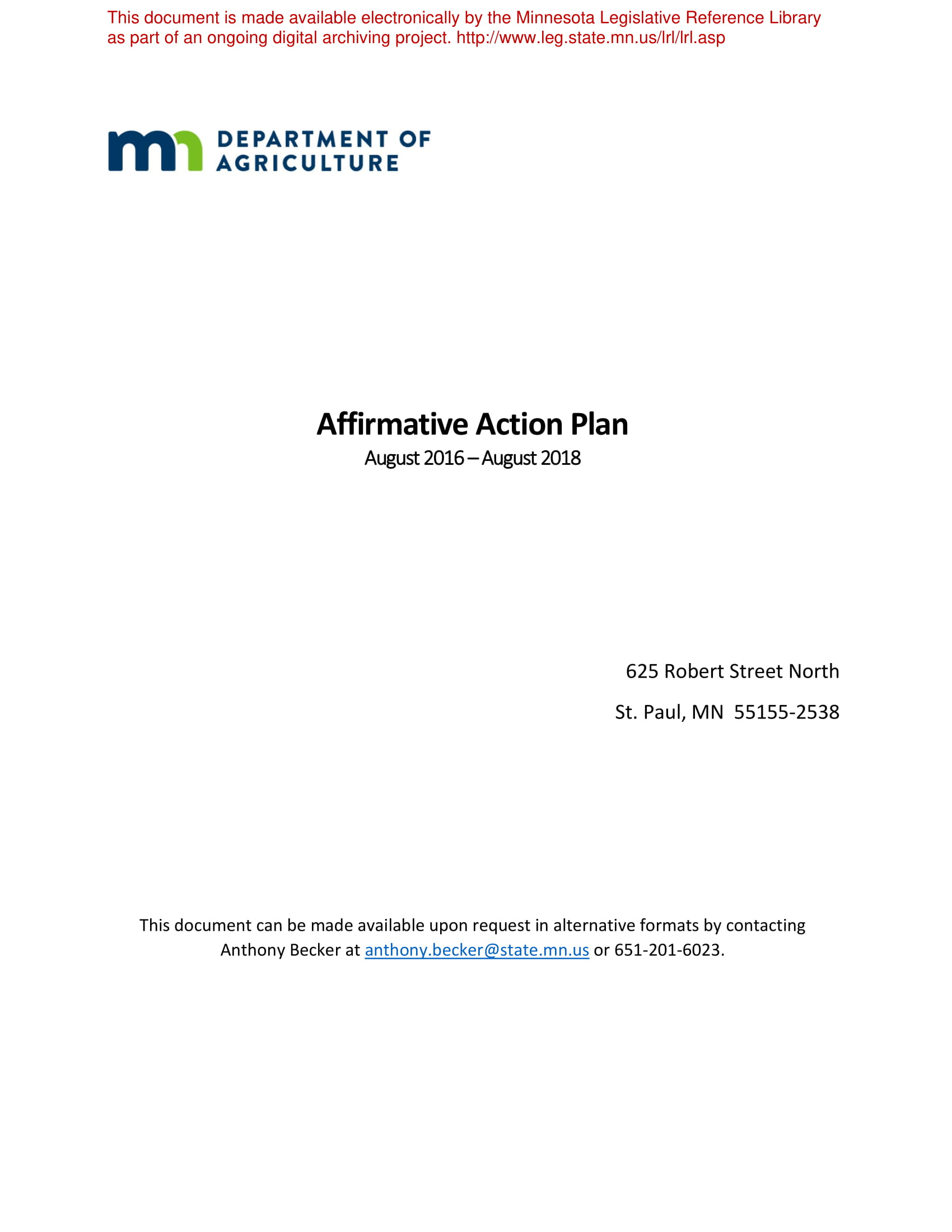 detailed affirmative action plan example 01