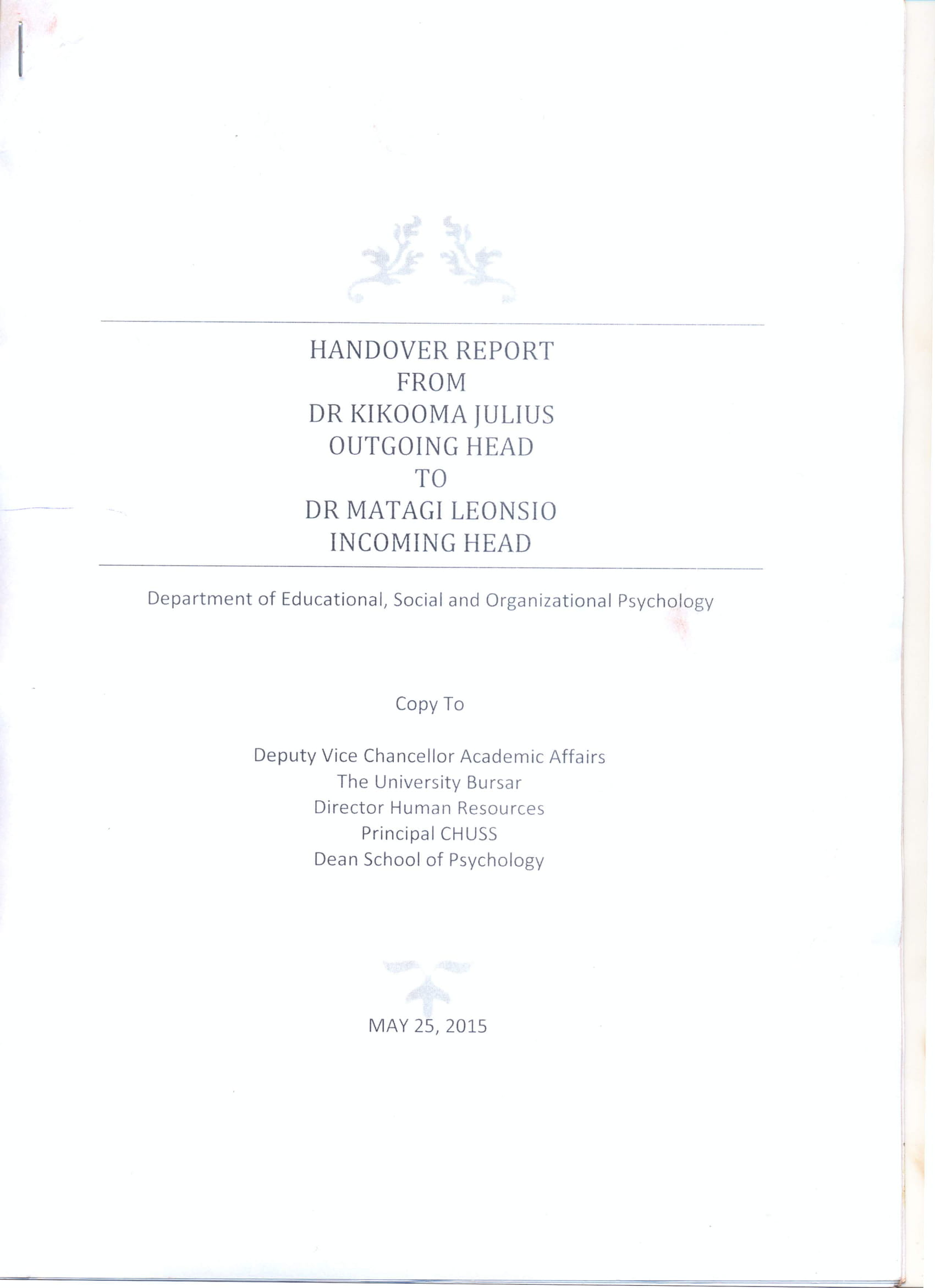detailed handover report example 1