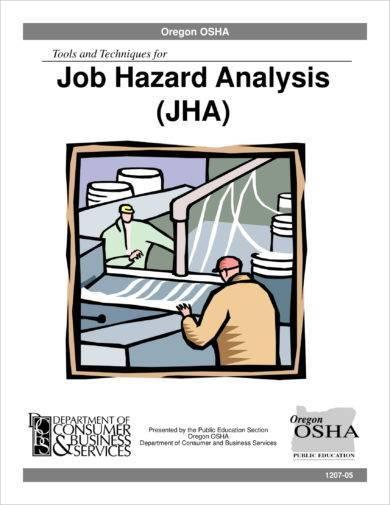 detailed job hazard analysis example