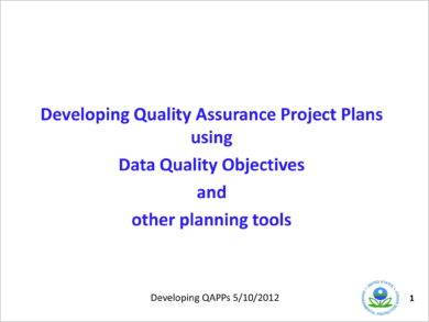 developing quality assurance project plans using data quality objectives