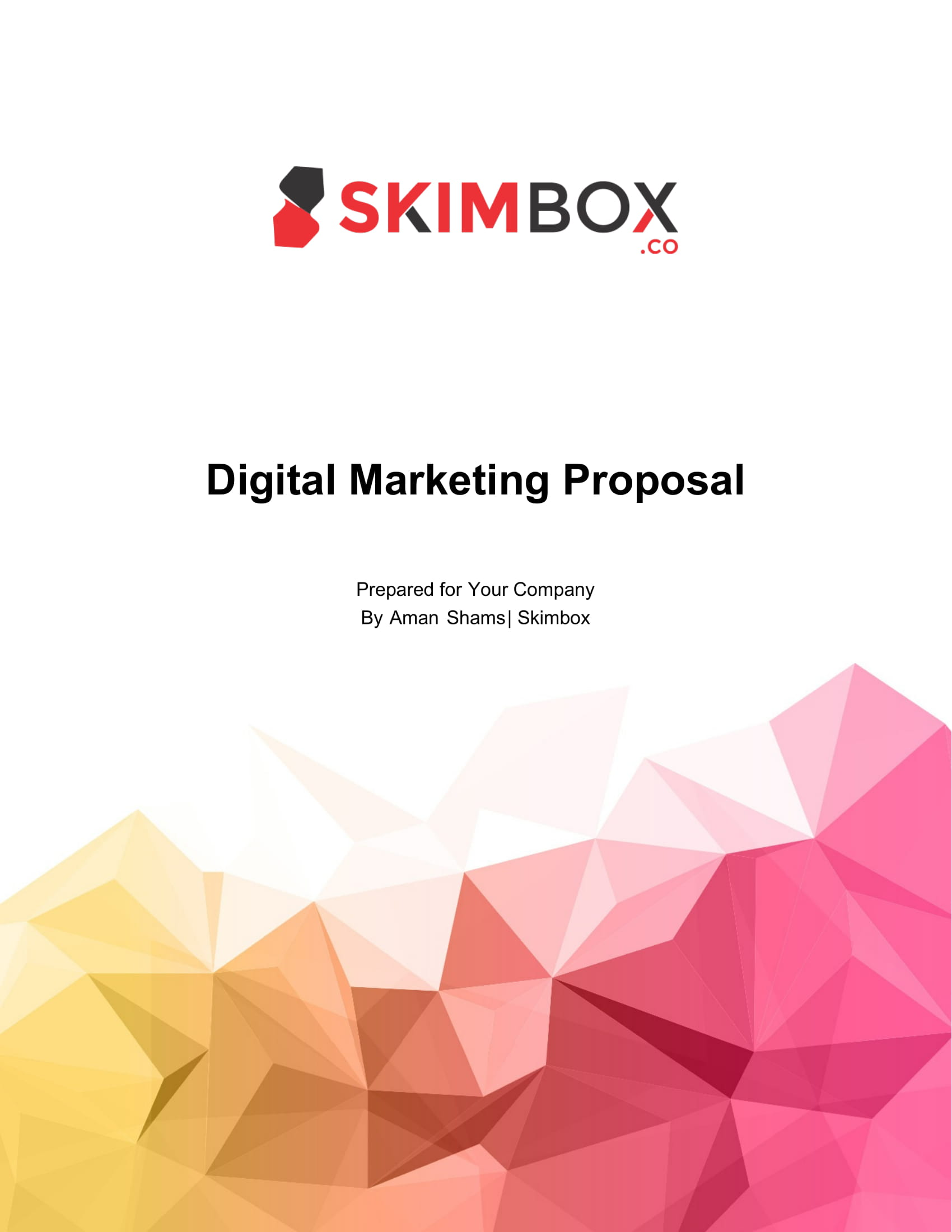 digital marketing campaign proposal example