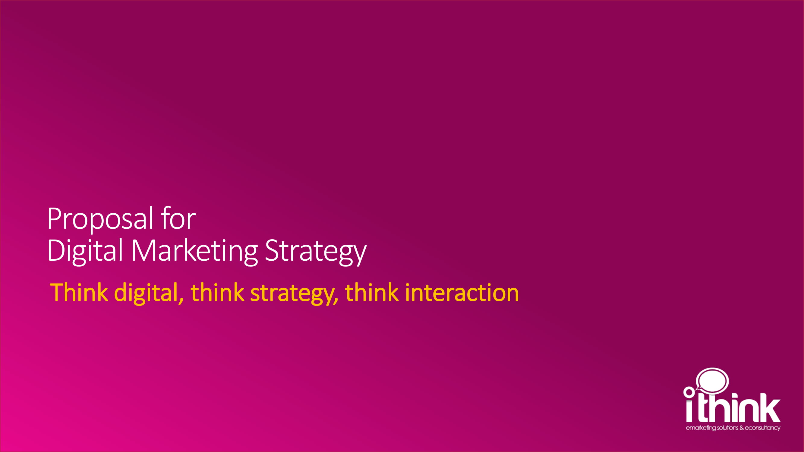 digital marketing campaign strategy proposal example