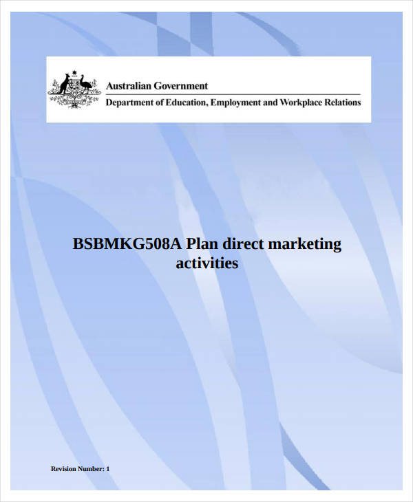 direct marketing plan activities example