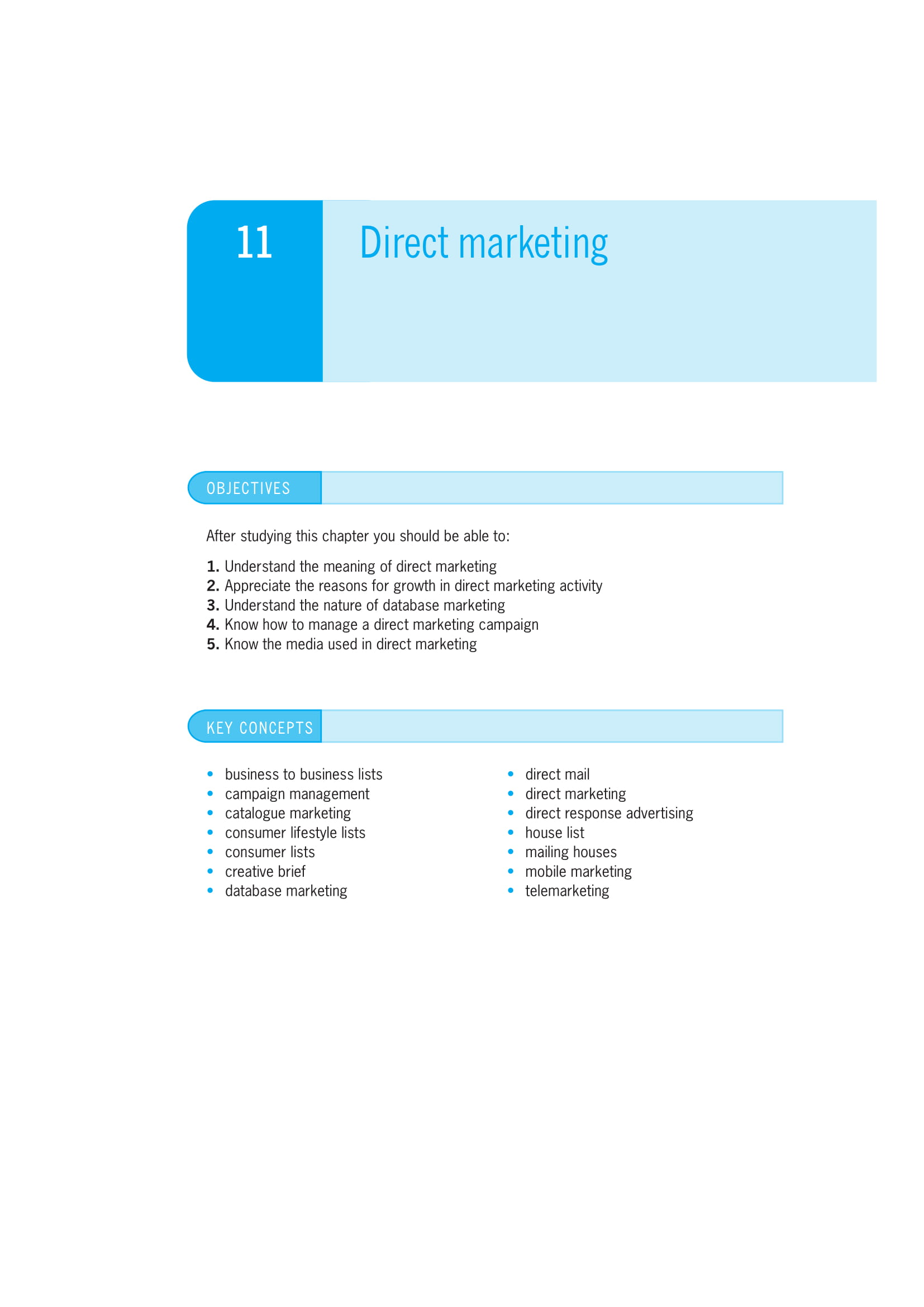 direct marketing plan guidelines example