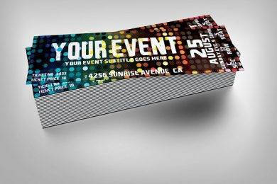 disco music event ticket design example