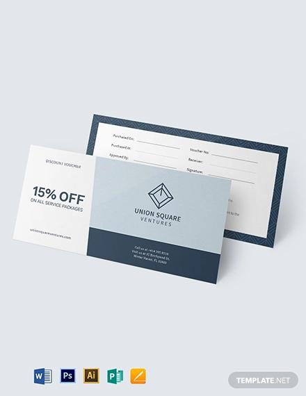 discount business voucher template