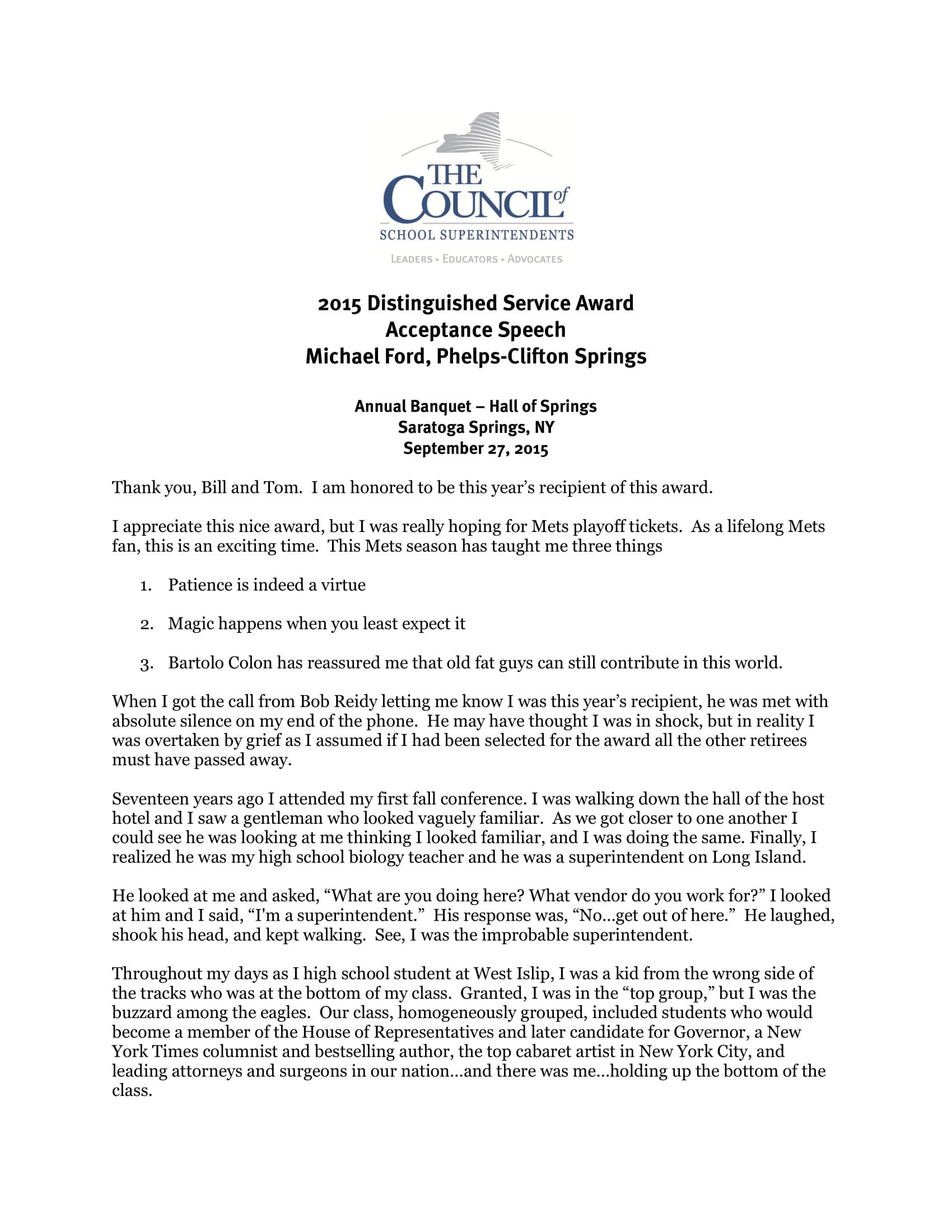 Service academy nomination essay