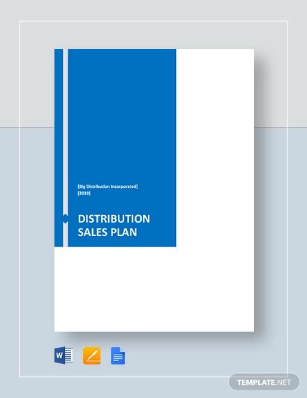 distribution sales plan template