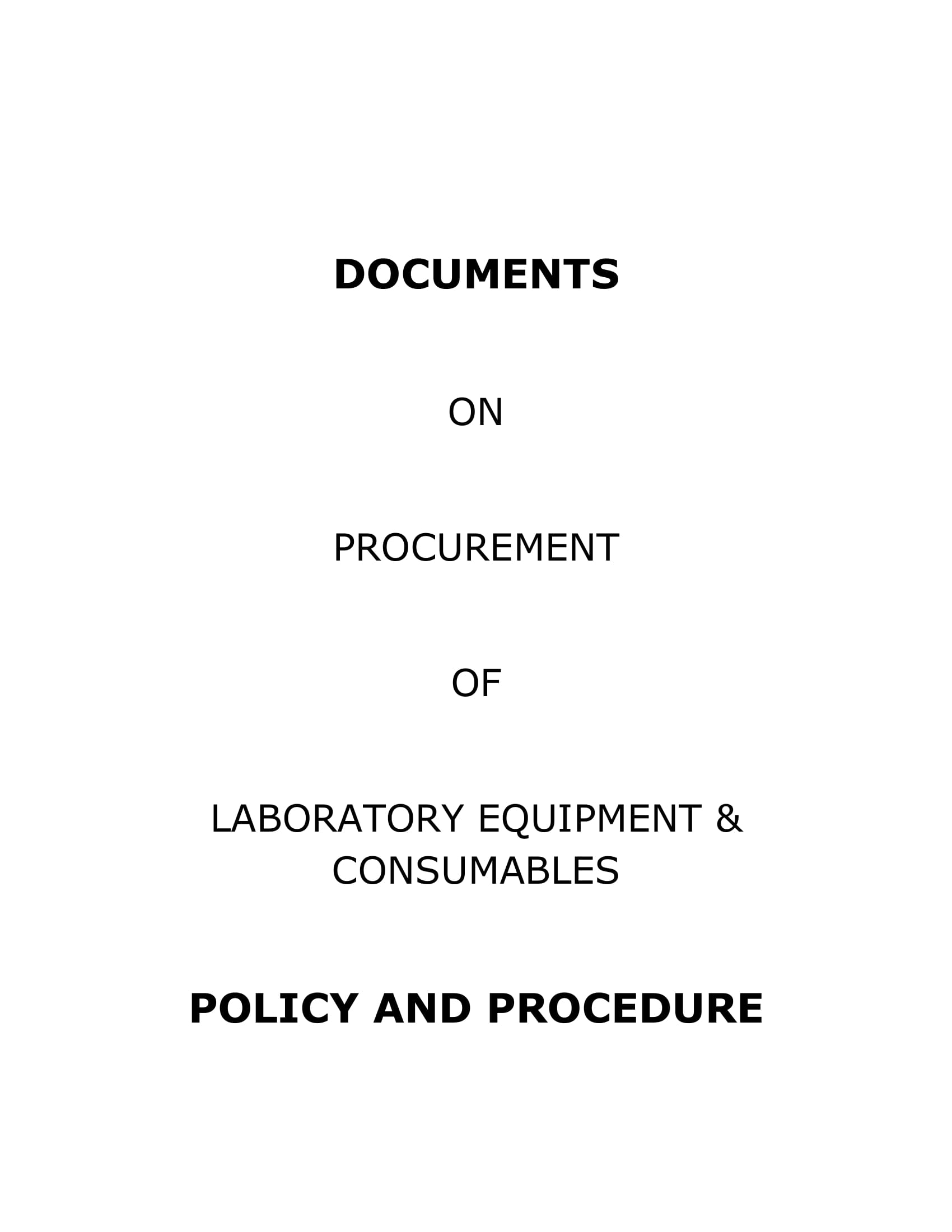 documents on procurement of laboratory equipment and consumables example 01