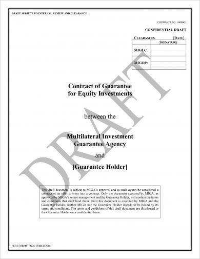draft equity investment agreement example