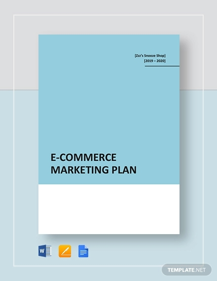 e commerce marketing plan template