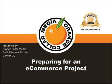 e commerce project preparation plan example