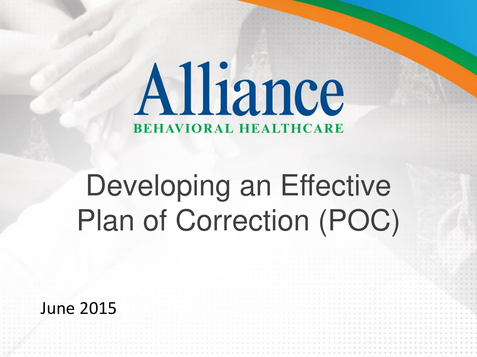 effective plan of correction development guide example 01