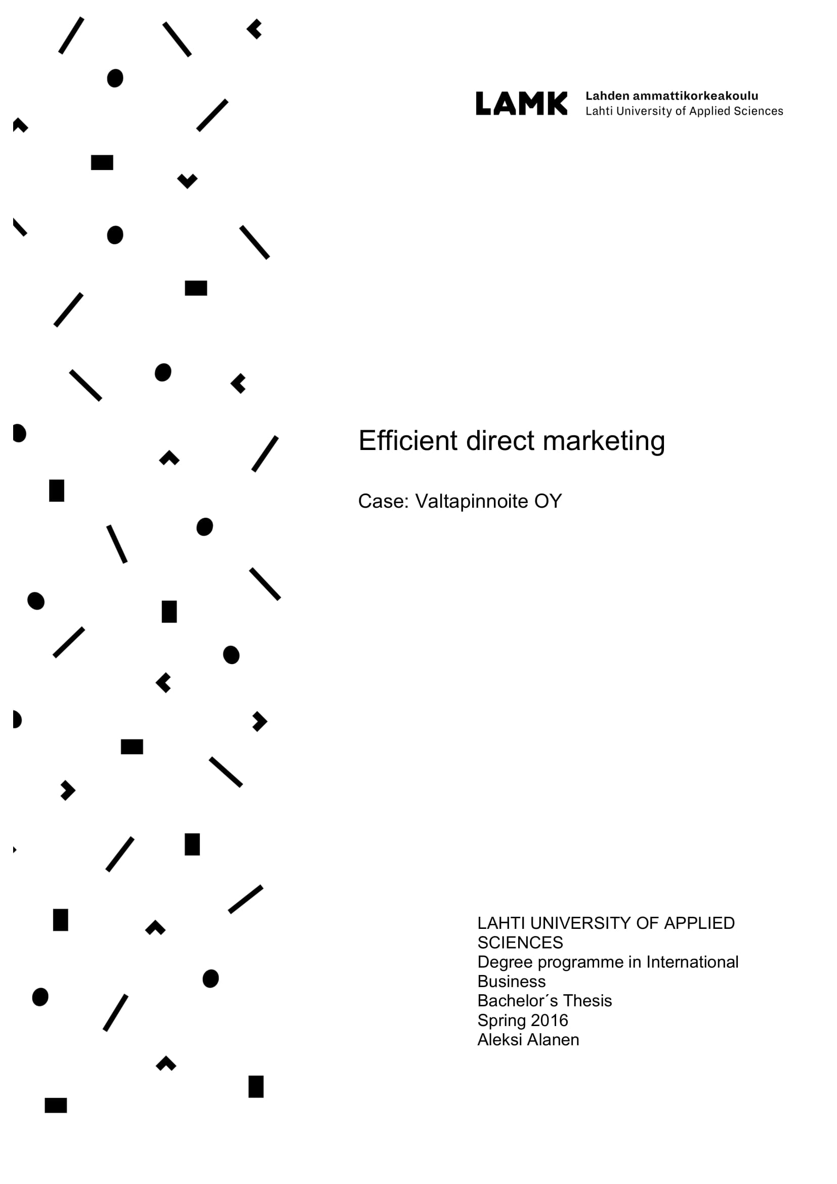 efficient direct marketing plan example