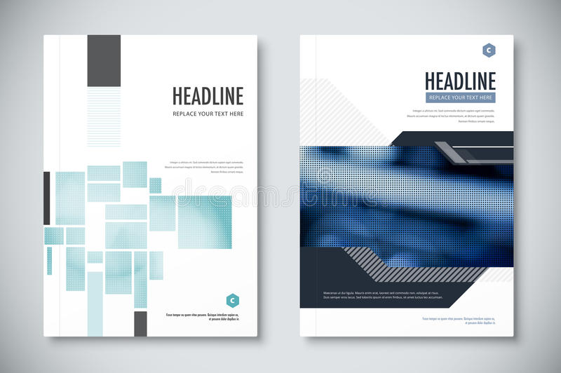 elegant annual business report layout