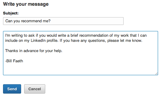 email request for reference example