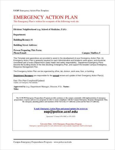 emergency action plan template1
