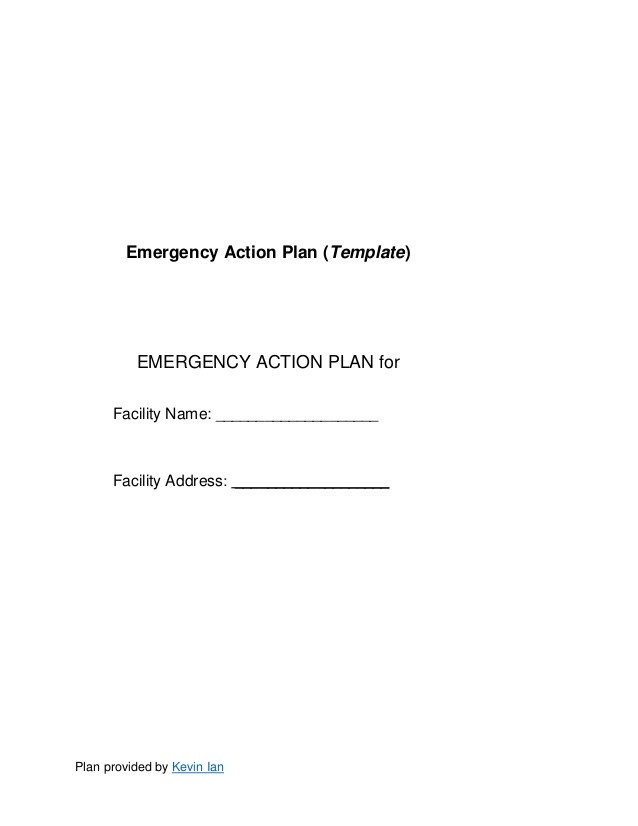 emergency care action plan template