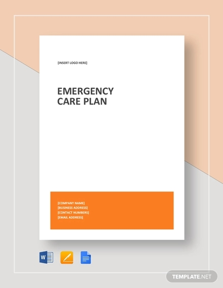 emergency care plan example