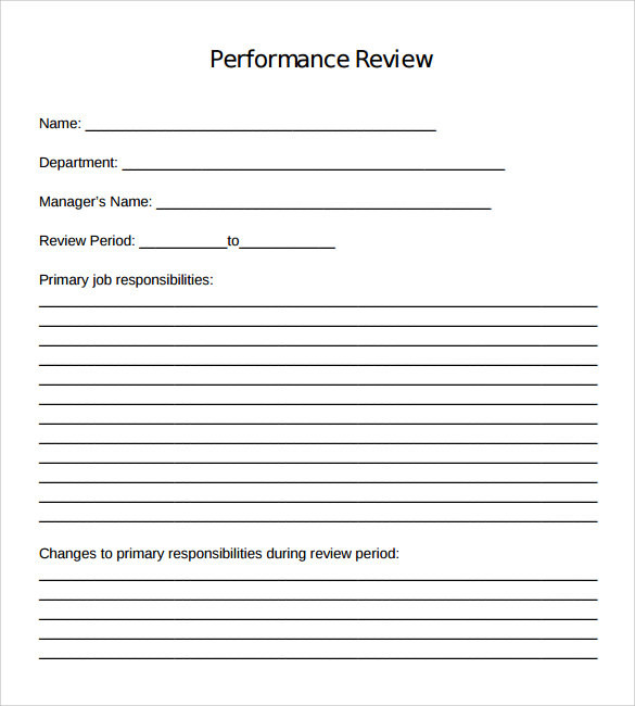 employee performance review action plan example
