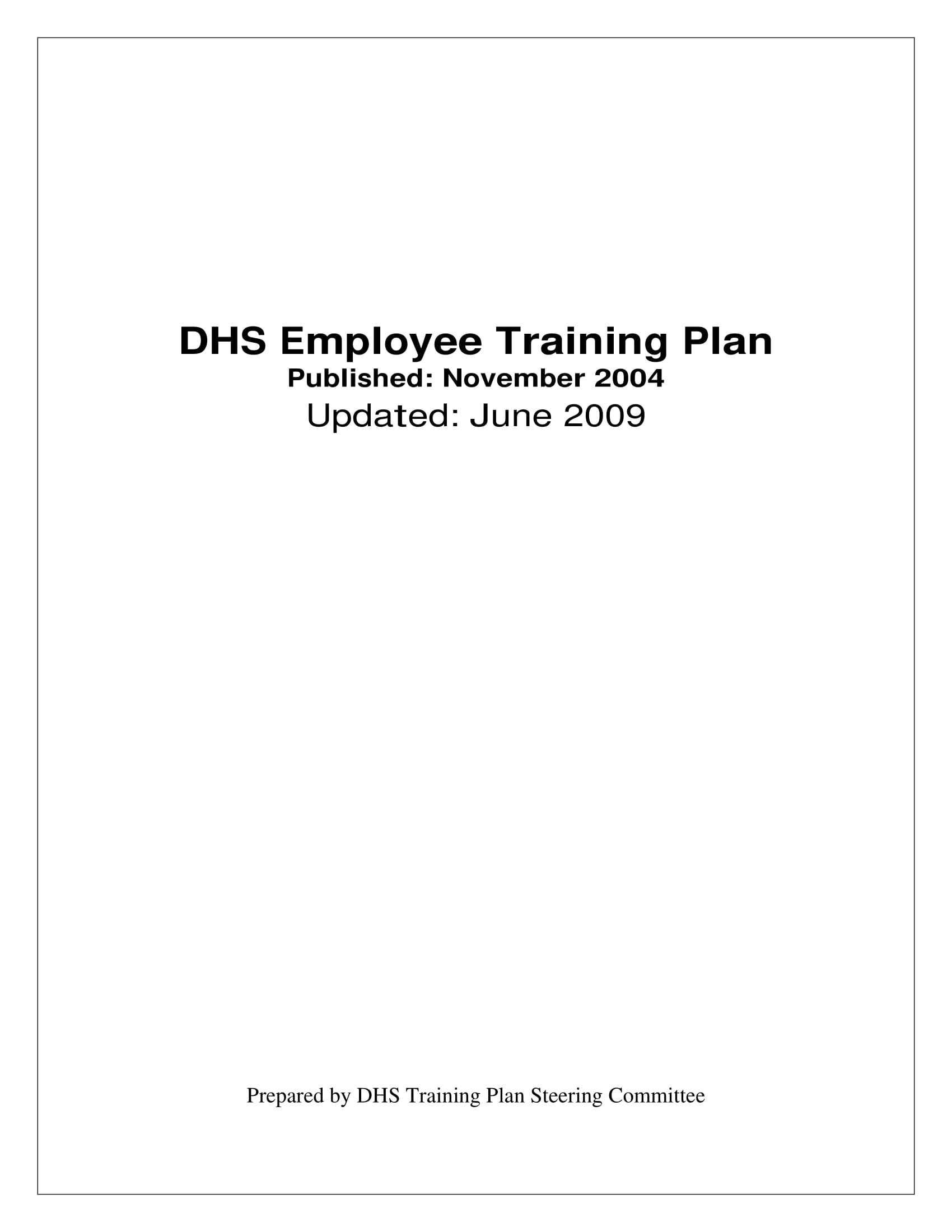 employee training hr project plan example 001