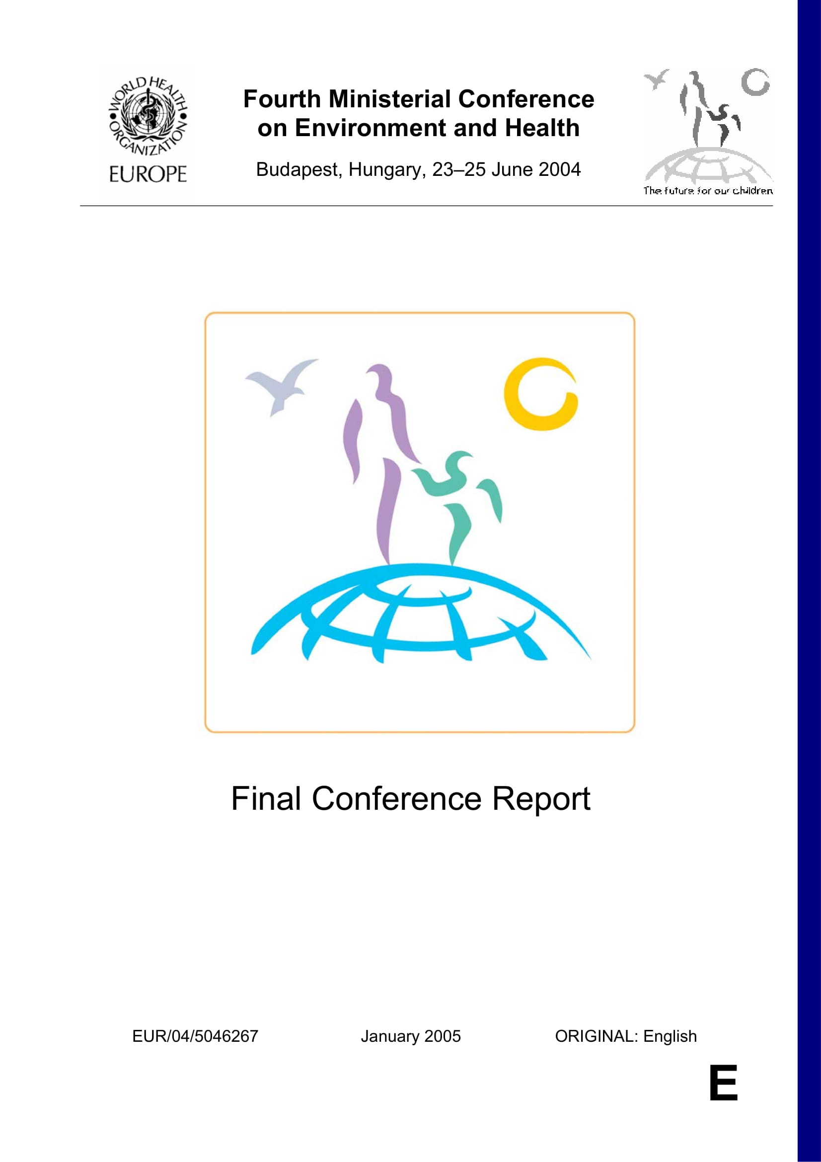 environment and health conference report example