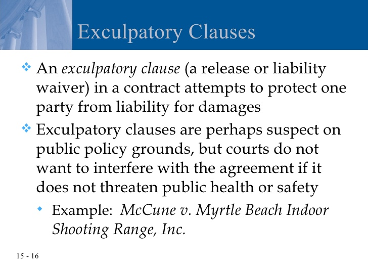 exculpatory clause definition
