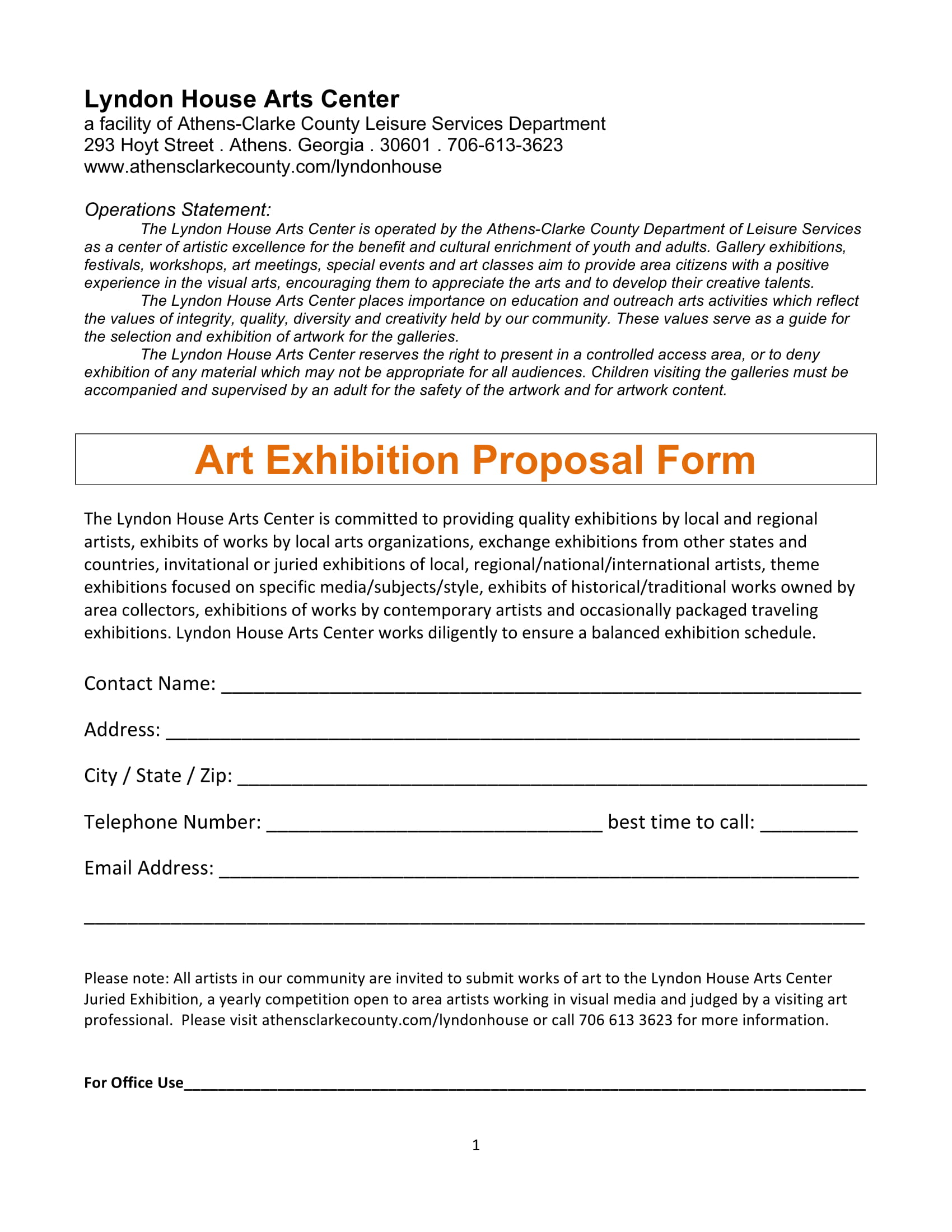 11  exhibition proposal examples
