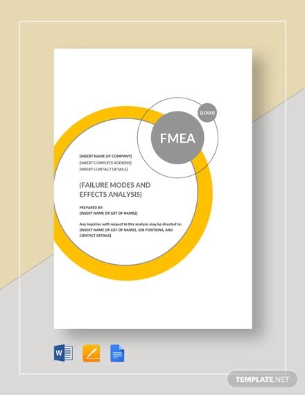 fmea analysis example
