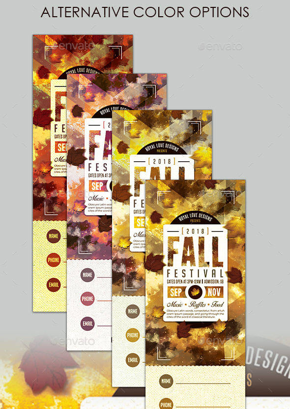 fall festival ticket example